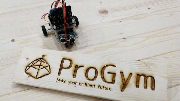 レーザーカッターで作ったProGymの木製看板